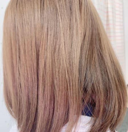 アスオイルを使っているうさぎの髪